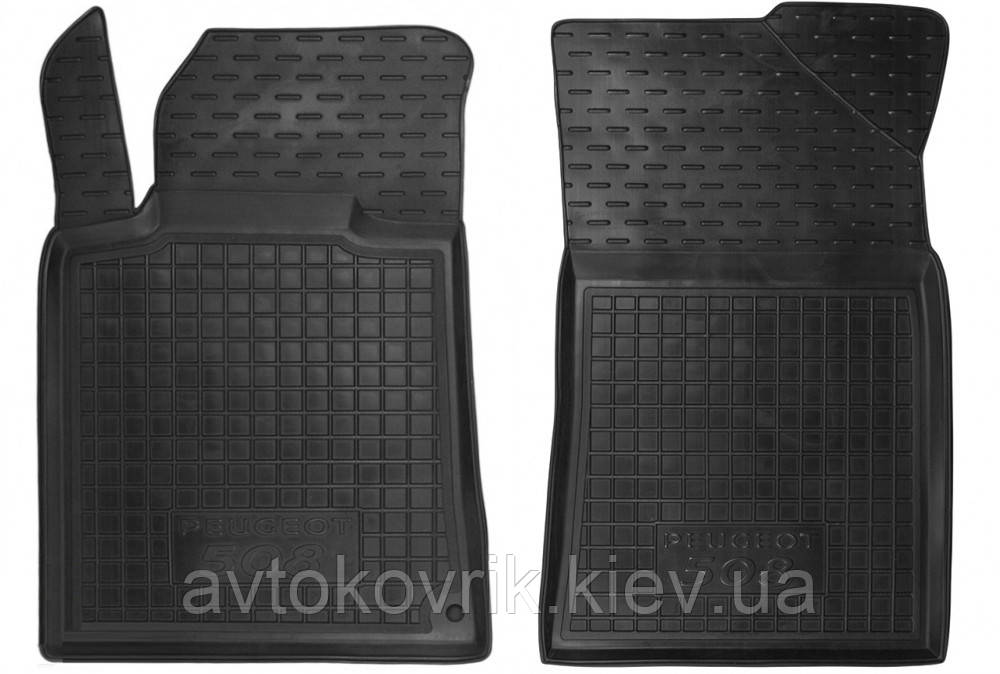 Полиуретановые передние коврики в салон Peugeot 508 2011- (AVTO-GUMM)