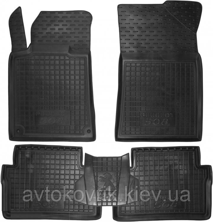 Полиуретановые коврики в салон Peugeot 508 2011- (AVTO-GUMM)