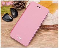 Кожаный чехол книжка MOFI для Xiaomi Mi4s розовый