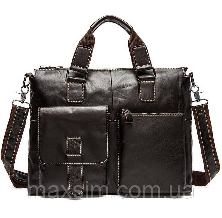09138056093b Деловой мужской кожаный портфель для ноутбука, планшета, документов из  натуральной кожи -