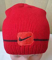 """Шапка мужская """"Nike"""" красная"""