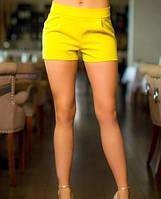 Универсальные летние женские шорты со средней посадкой костюмный стрейч