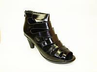 Ботинки летние черные натуральная кожа Б652 р 36