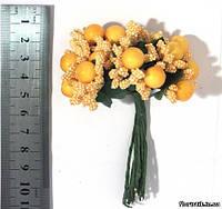 Тычинки на проволоке желтые с ягодами