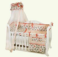 Постельный набор для новорожденных Twins Premium P-035 Бемби(8 элементов)