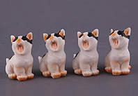"""Комплект фигурок из полистоуна 4 шт., 6,5 см. """"Котики"""" белый"""