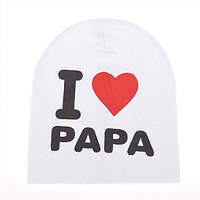 Шапка детская I love papa & mama