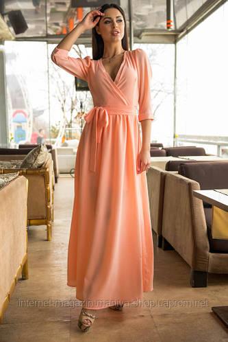 Летнее платье с рукавом тричетверти, на манжетах, пуговицах. Подкладка