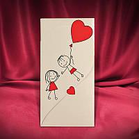 Забавные свадебные приглашения с сердечком (арт. 2669)
