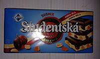 Шоколад Микс Studentska Original Mlecna молочнаяс белым шоколадом арахисом , желе, изюмом Студенческая печать 180 гр