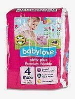 Подгузники Babylove Premium aktiv plus 4 maxi (7-18 кг) 42 шт.