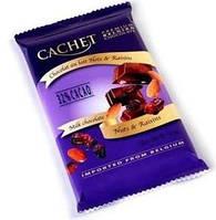 Премиум шоколад Cachet 32% Milk Chocolate with Nuss & Raisins  с миндалем и изюмом, 300гр. Бельгия