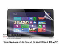 Глянцевая защитная пленка на Acer Iconia Tab w701