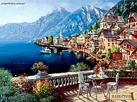 Набор для создания картины в технике Папертоль PT150002. ГОРОД У МОРЯ, фото 1
