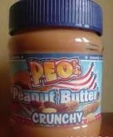 Арахисовое масло паста Peo Peanut Butter Crunchy с кусочками арахиса 340г (Германия)
