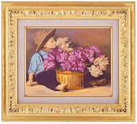 Схема для частичной вышивки бисером «Цветы для мамочки» ВШ,248х305,Габардин,Арт.ЧБ-23 /00-02