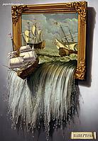 Набор для создания картины в технике Папертоль PT150020. МОРЕ В КАРТИНЕ, фото 1