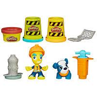 Play-Doh HASBRO Игровой набор Дорожный рабочий и щенок TOWN Brand New City Road Worker and Pup