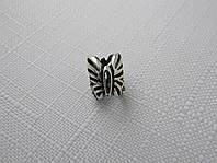 Бусина ШАРМ серебро 925* БАБОЧКА, фото 1