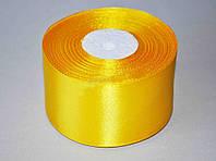 Лента атласная цвет №10(16) (ярко-желтый) шириной 5 см