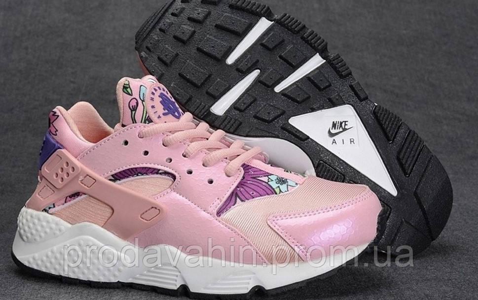 be61be9d ▻ Купить Женские кроссовки Nike Huarache розового цвета ...