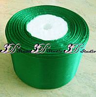 Лента атласная цвет №12(127) (зеленый) шириной 5 см