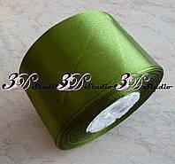Лента атласная цвет №13(61) (хаки) шириной 5 см