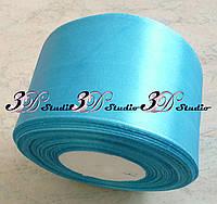 Лента атласная цвет №14(20) (светло-голубой) шириной 5 см