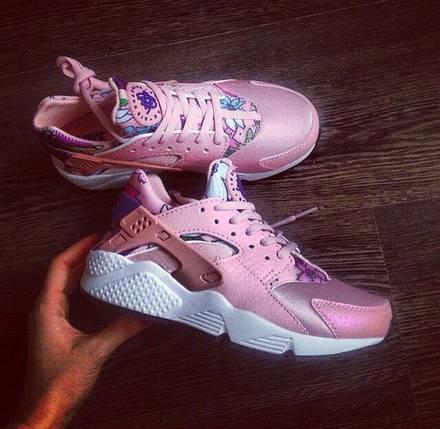 Кроссовки Nike Huarache Pink Floral, фото 2