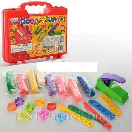Набор для лепки (пластилин) Dough fun в чемоданчике красный