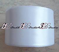 Лента атласная цвет №20(01) (белый) шириной 5 см