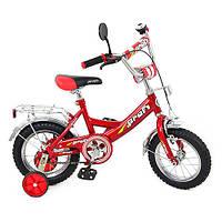 Детский двухколесный велосипед Profi 12 дюймов  P 1241 красный