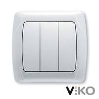 Выключатель 3 клавшный белый VI-KO KARMEN