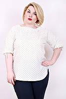 Летняя свободная блузка большого размера