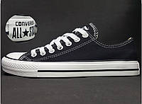 Кеды Converse All Star  низкие (Конверс), наличие, размеры, цвет черно-белый