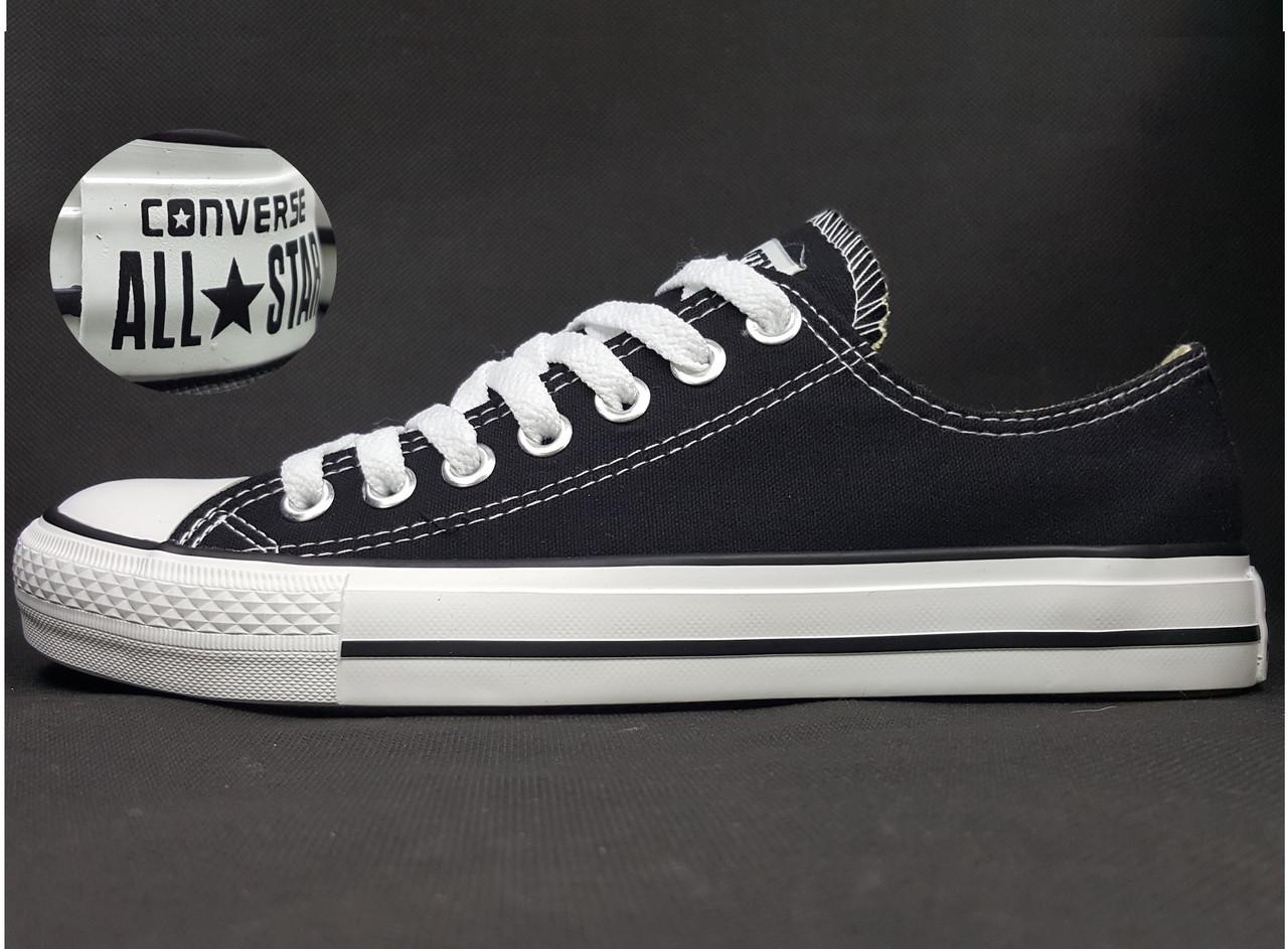 Кеды Converse All Star низкие (Конверс), наличие, размеры, цвет черно-белый 59510376c10