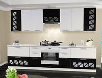 Кухня Нана комплект 2м белый глянец + черная галактика   Світ Меблів