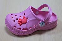 Детские розовые кроксы, детская летняя обувь Crocs тм Виталияр. 20-35