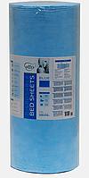 Простынь одноразовая Etto в рулоне, СМС (уплотненный спандбонд) 0,6х500 м., голубой