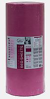 Простынь одноразовая Etto в рулоне, СМС (уплотненный спандбонд) 0,6х500 м., розовый