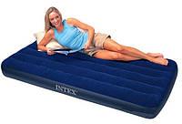 Матрац велюровий надувний Intex 68757 синій 99-191-22 см