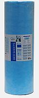 Простынь одноразовая Etto в рулоне, СМС (уплотненный спандбонд)  0,8х500 м., голубой