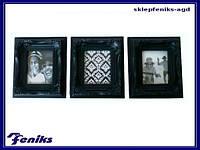 Рамка для фото черная 3 шт 10х12 Феникс