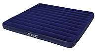 Матрац велюровий надувний Intex 68755 (2шт) синій великий 203-183-22 см