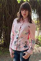 Очень красивая женская рубашка розового цвета