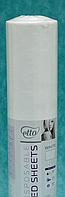 Простынь одноразовая Etto в рулоне, СМС (уплотненный спандбонд) 0,8х100 м., перфорация 2 м, белый
