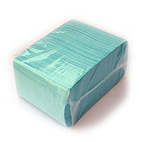 Нагрудники (Салфетки) голубые 2-х слойные водонепроницаемые 500шт Unident