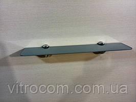 Полку 4 мм скляна пряма сіра 50х10 см