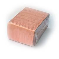 Нагрудники (Салфетки) 2-х слойные водонепроницаемые персиковые 500шт Unident
