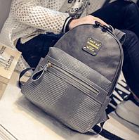 Рюкзак из кожзама Николь серый 103